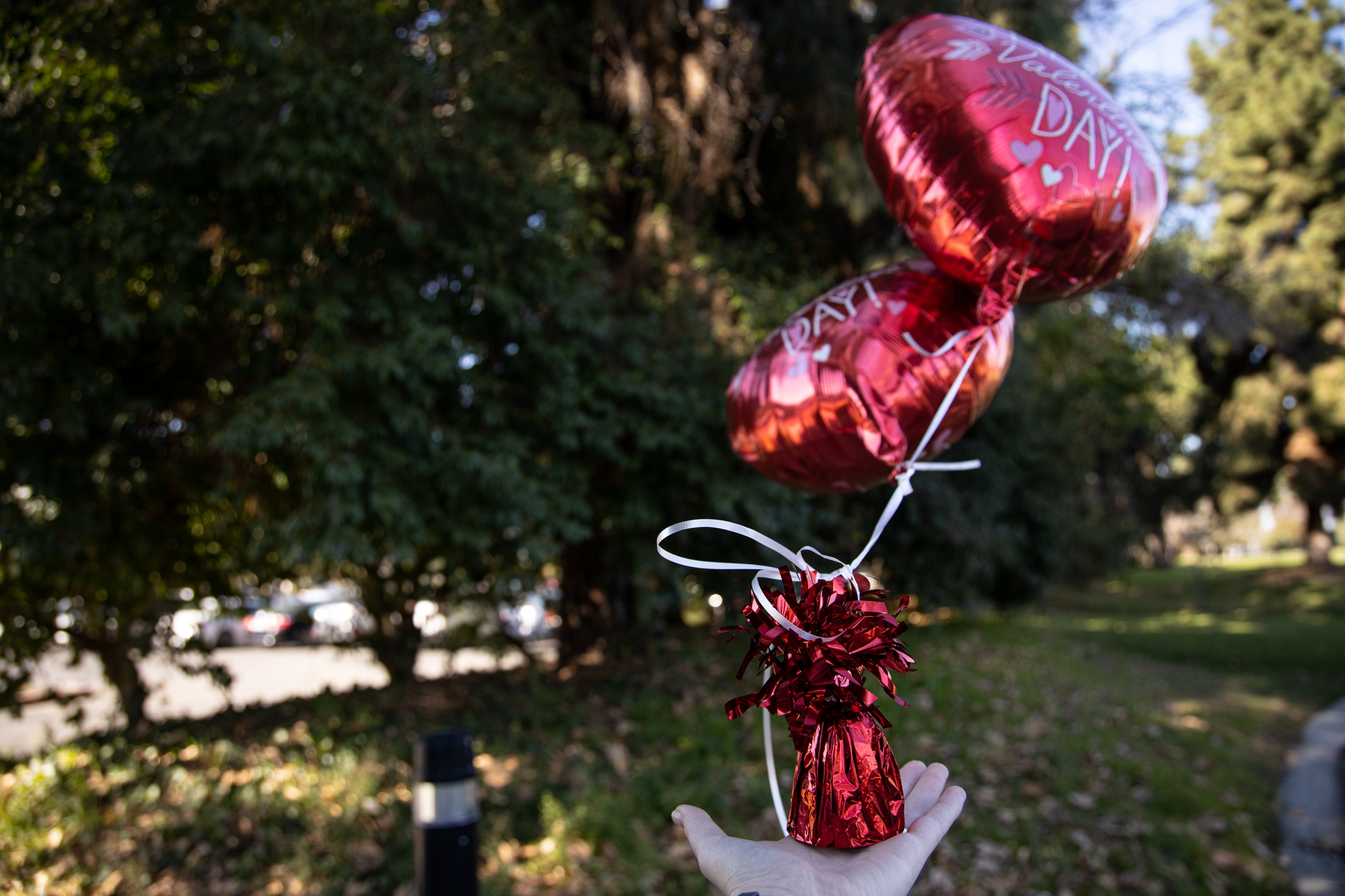 Metallic balloons should only be enjoyed outdoors while always attached to a weight — as state law requires — to prevent even unintentional releases.