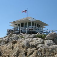 The Vetter Lookout in 2008, before it was burned down in the 2009 Station Fire.