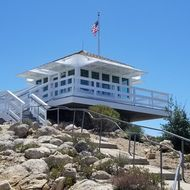 The newly rebuilt Vetter Mountain Fire Lookout.