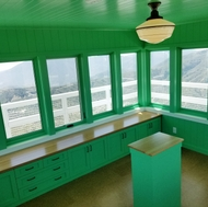 A look inside the newly rebuilt Vetter Mountain Fire Lookout.