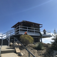 Construction of the Vetter Lookout rebuild began in 2019.