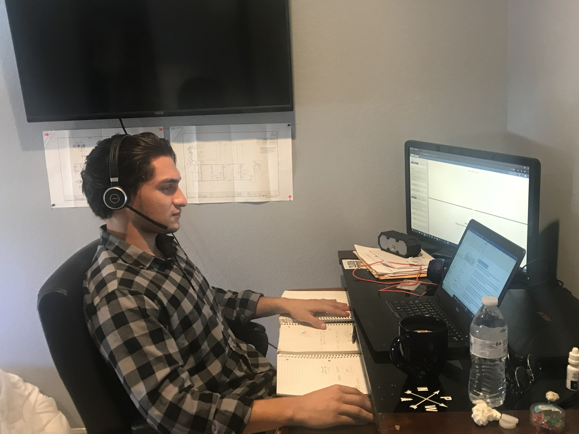 Anthony Salvatore Villicana enjoys participating in virtual job walks for his internship.