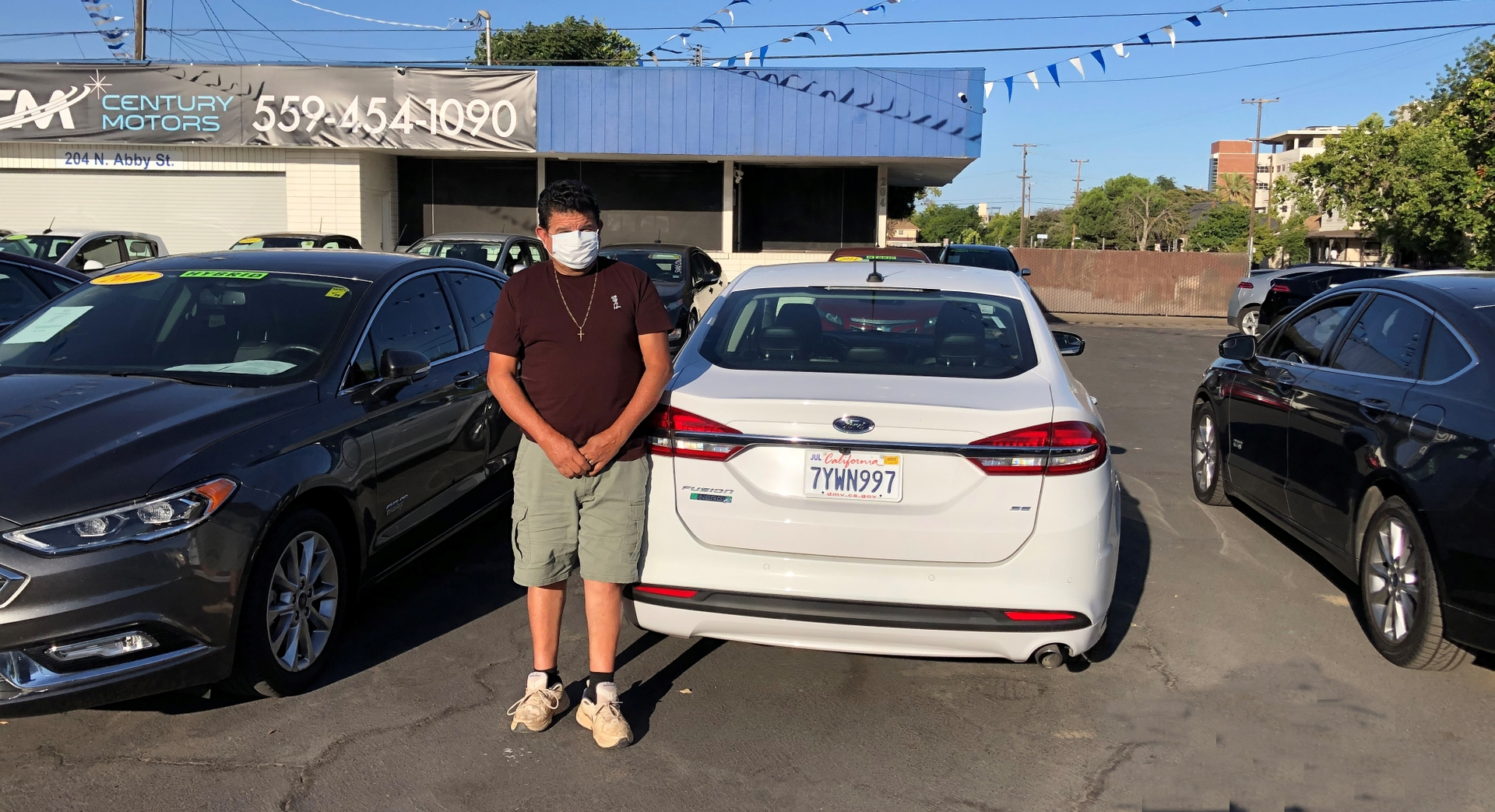 Jose Garcia of Woodlake turned in his 1999 Ford Mustang for a used Ford Fusion Energi plug-in hybrid with the help of Valley CAN.