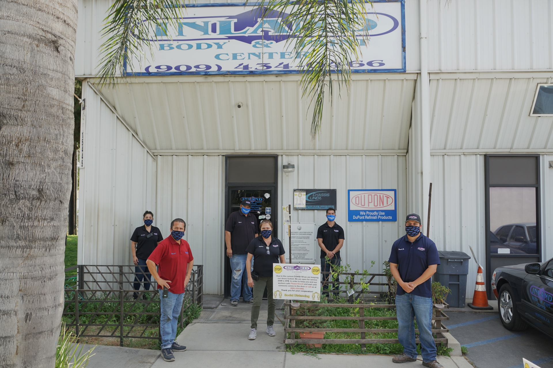The state's Shop Safe Shop Local campaign encourages Californians to support small businesses like the Inland Body and Paint Center in Fontana.