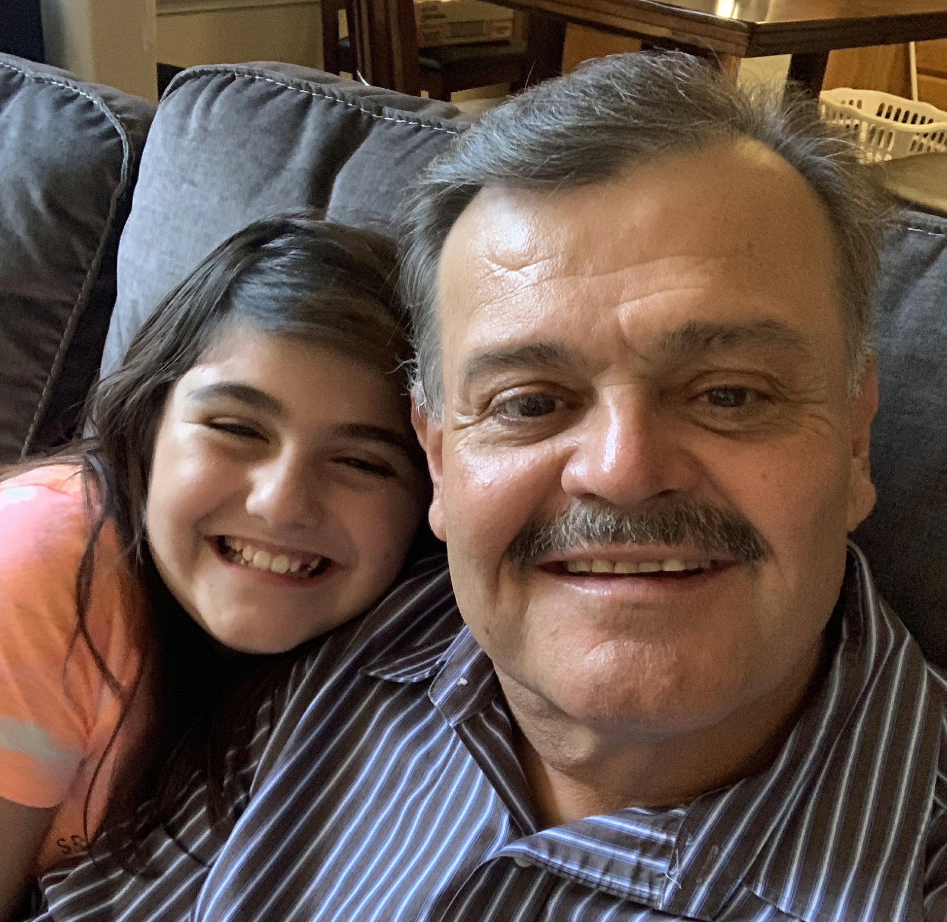 Phillip Sonoqui with his 10-year-old daughter Yolie.