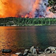 The Creek Fire continues to burn in Big Creek.