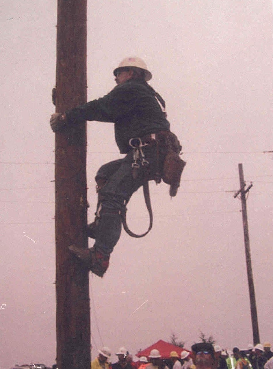 Pat Lavin at the International Lineman's Rodeo in Kansas City in 2002.