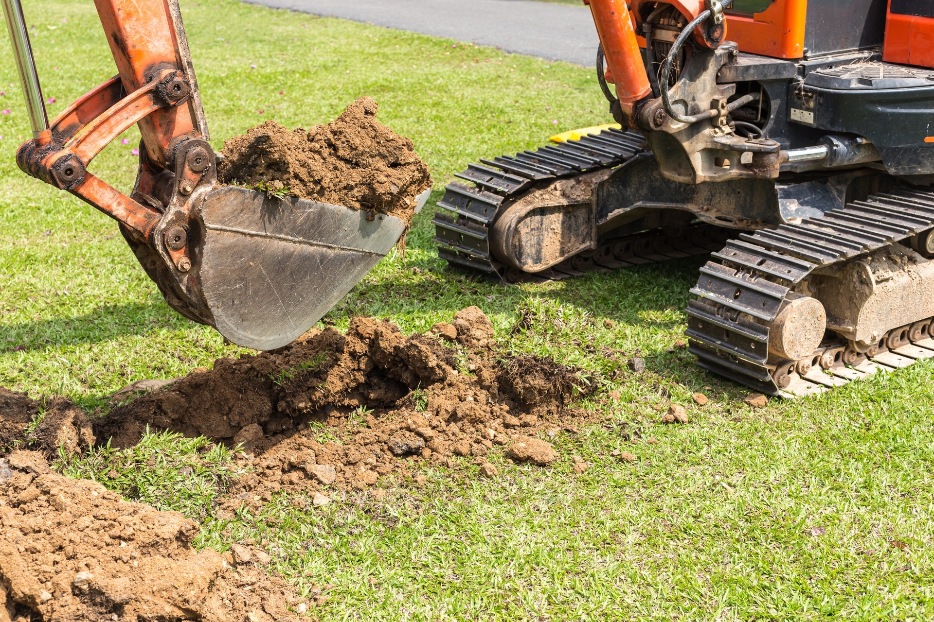 Even contractors should never begin a digging project without calling 811 and having utility lines marked for free.