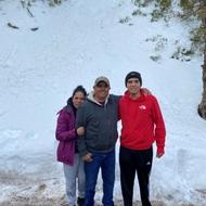 Gustavo Valenzuela and his parents.