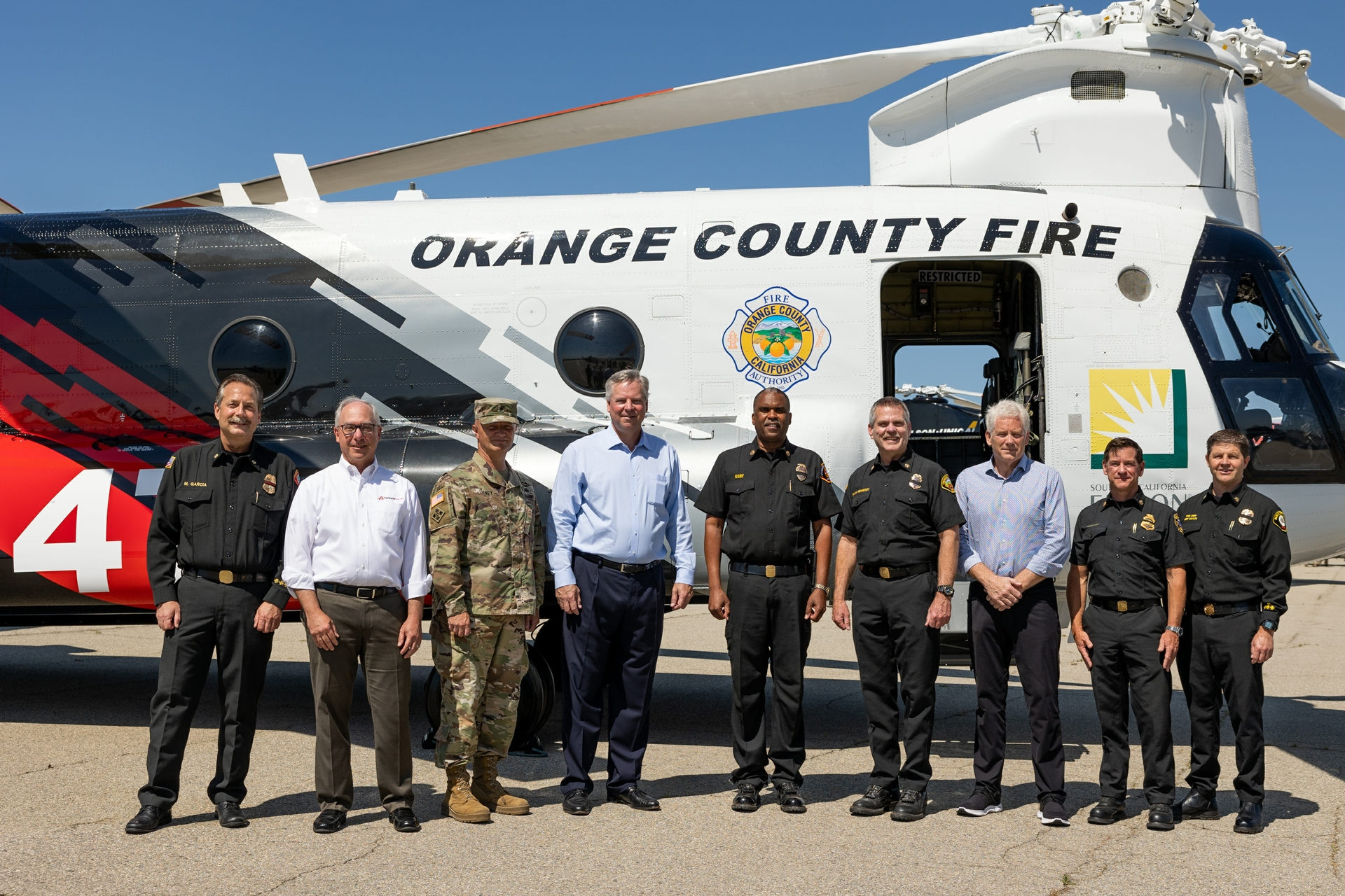 OCFA, LA County Fire Department, Ventura County Fire Department and SCE recently held an event at Joint Forces Training Base in Los Alamitos to debut the aircraft fleet