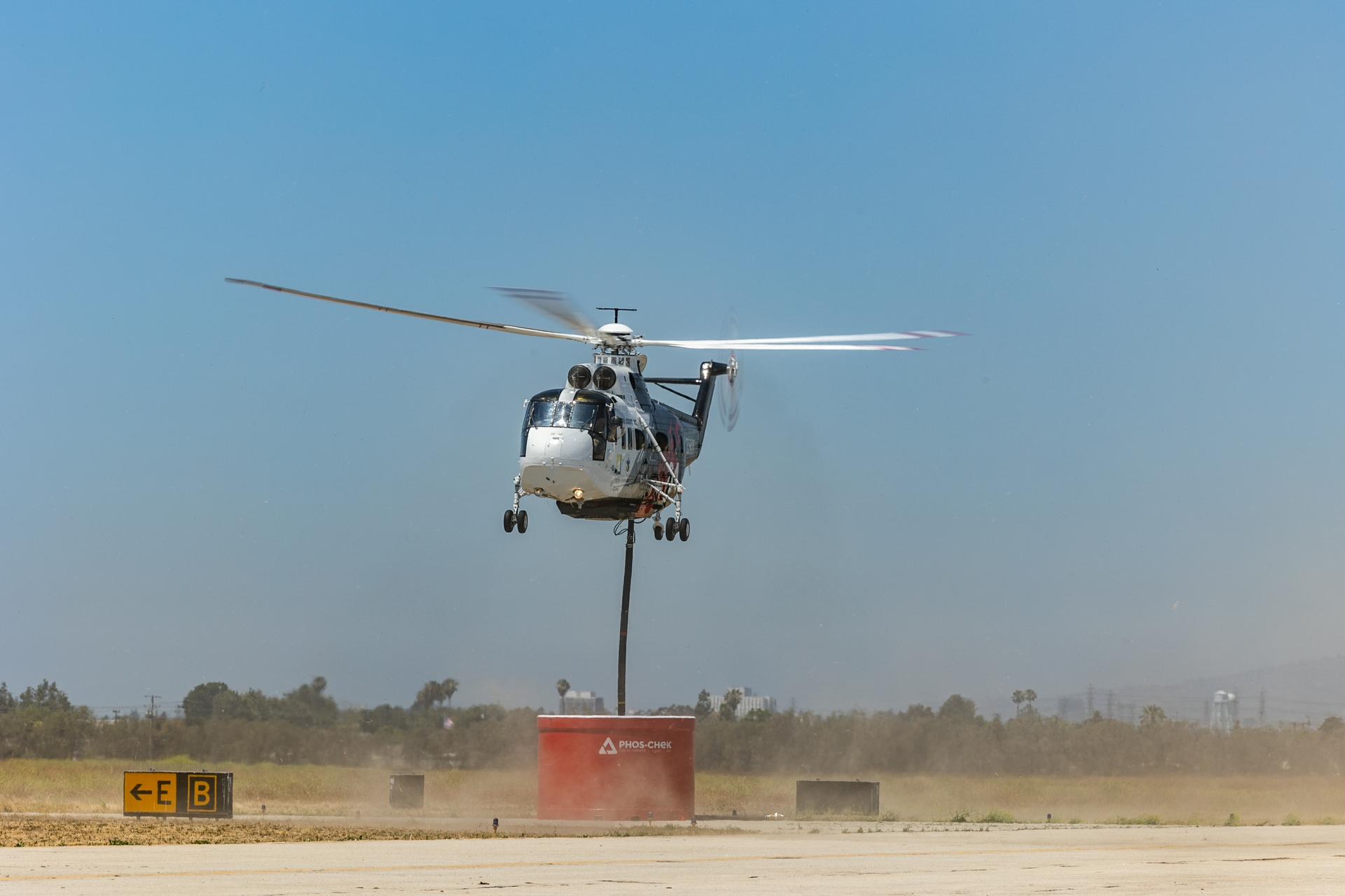The helitankers can function during the day and night, typically the best time to stop a wildfire, as winds die down, temperatures ease and humidity rises.