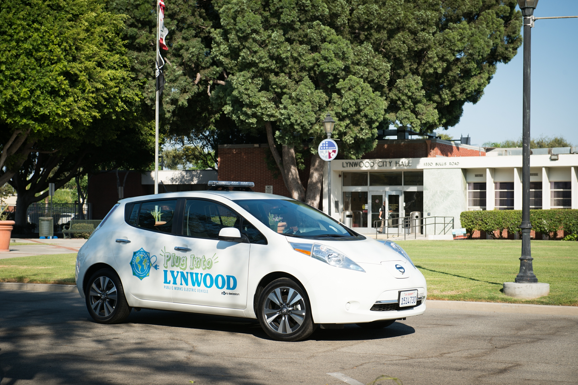 The city of Lynwood was the first Charge Ready pilot site, adding six chargers for the city's fleet of EVs and eight more at the civic center public parking lot.