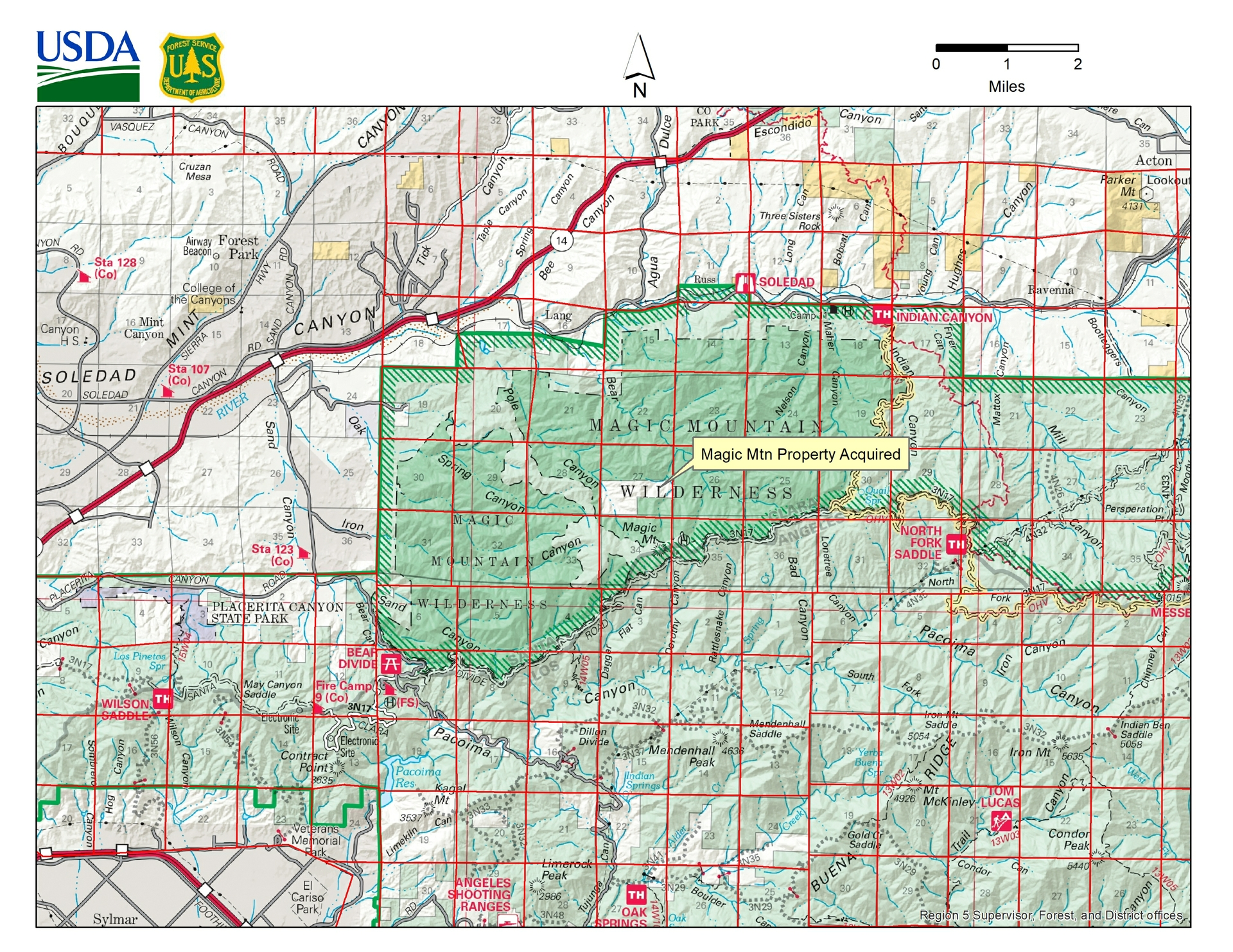 The 240 acres donation is part of SCE's mitigation as a result of construction for the Tehachapi Renewable Transmission Project that runs through part of the forest.