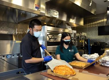 Delivering Joy With Pizzas, Hamburger Patties