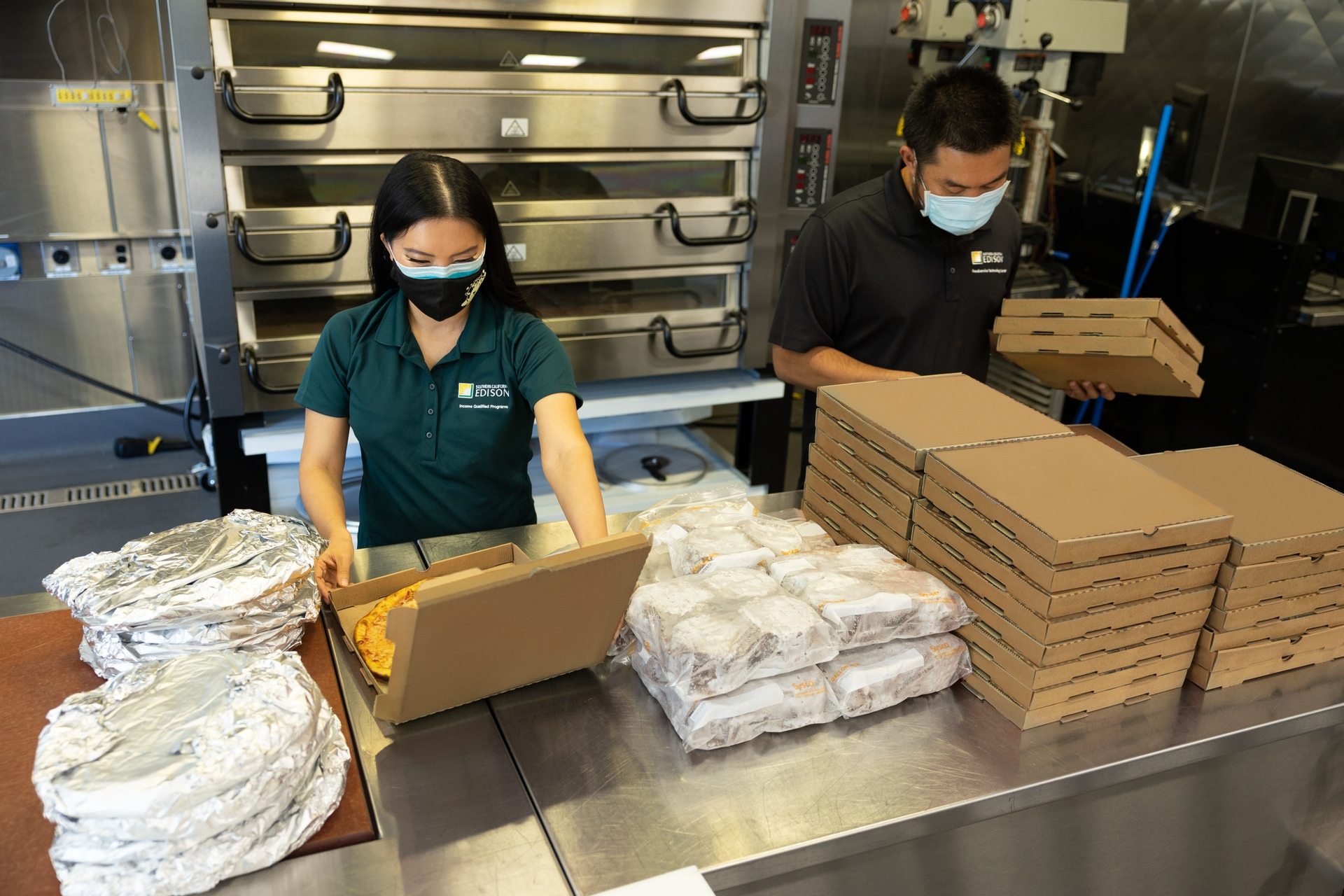 Team members from SCE's income-qualified programs and Foodservice Technology Center started a food donation initiative to address food insecurity.