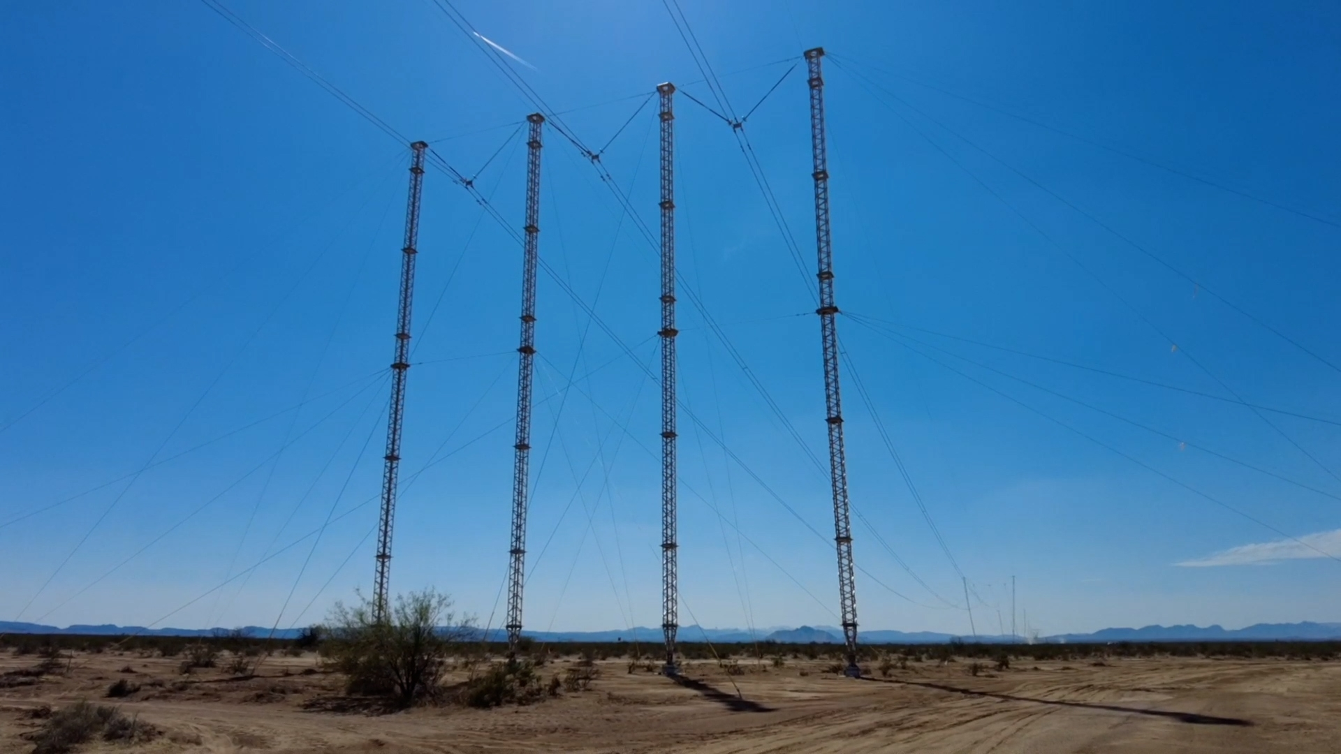 The completed and energized Lindsey towers, safely restoring power to SCE's customers.