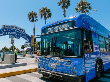 Santa Monica's Big Blue Bus is Big on Going Green