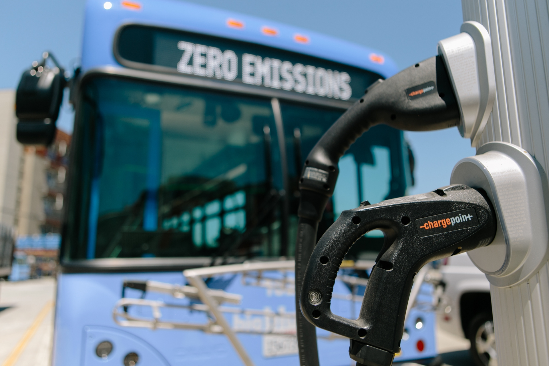 Santa Monica is considering a plan to install charging for as many as 100 electric buses.