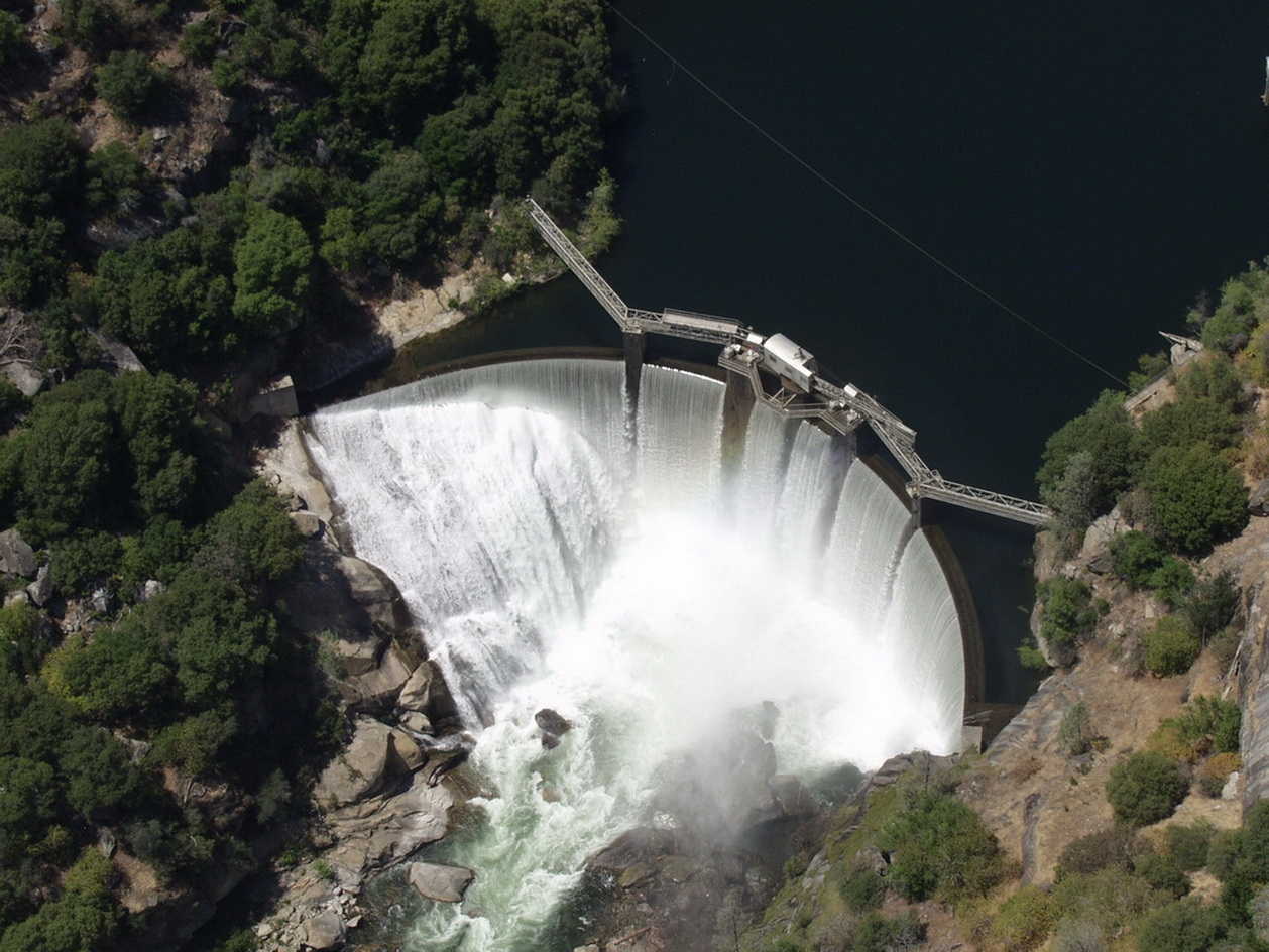 Dam 6 just below Powerhouse 8 continues to provide clean energy and water for California.
