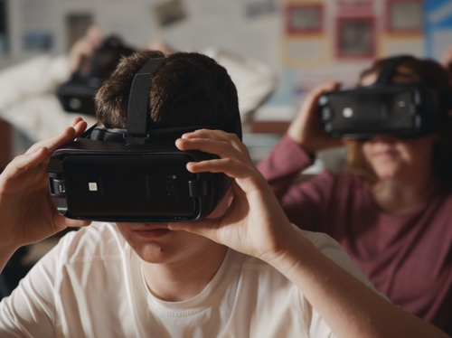 Student on VR Headset (image 1)