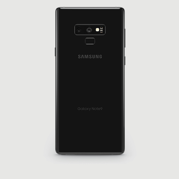 Samsung Galaxy Note9 in black (back)
