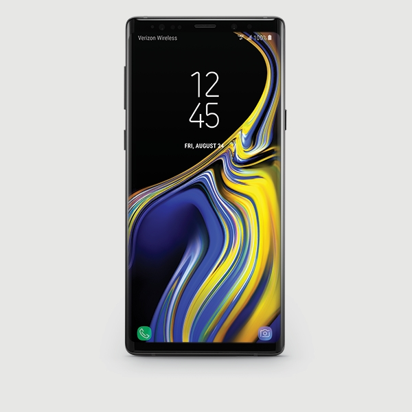 Samsung Galaxy Note9 in black (front)