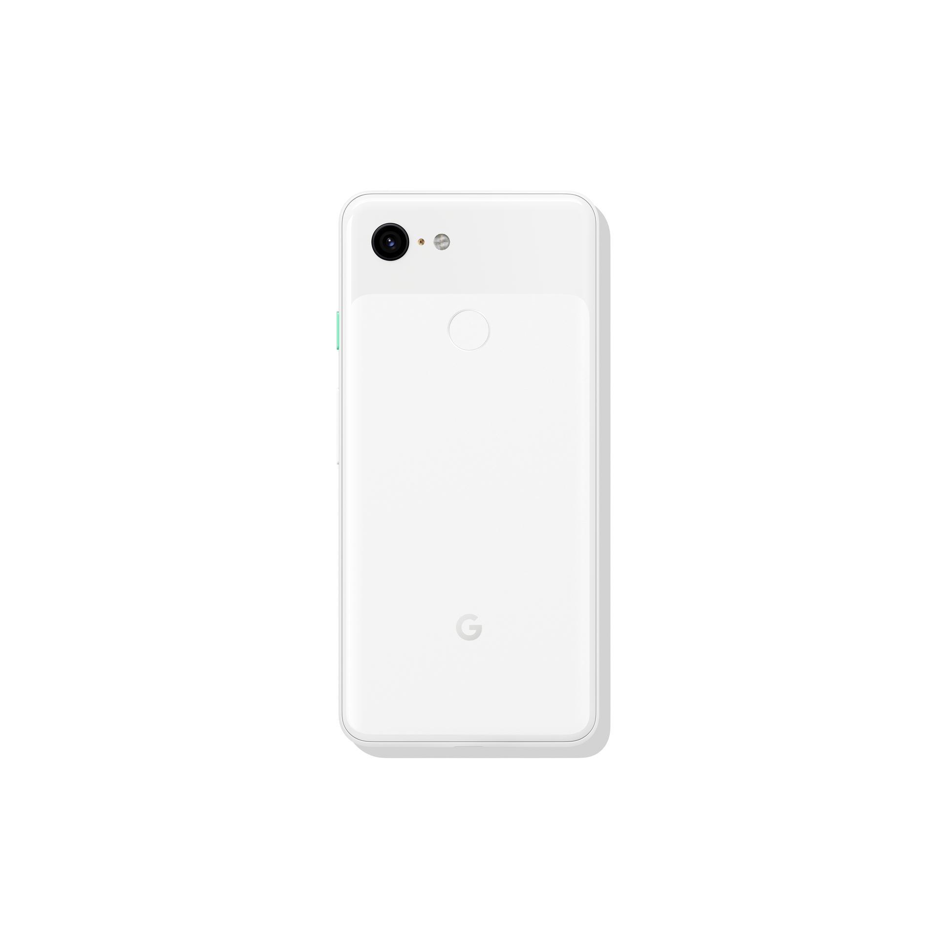 Google Pixel 3 in white (back)