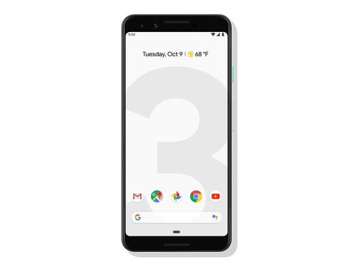 Google Pixel 3 in white (front)