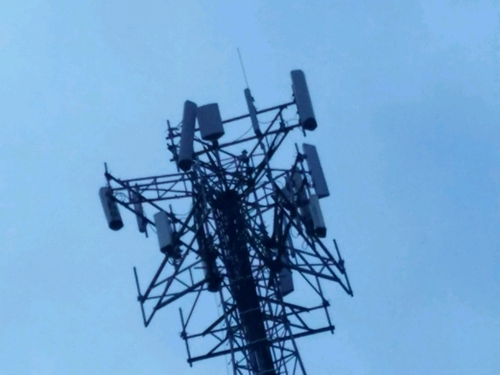 Damaged cell tower