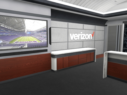 Verizon's virtual sky box at The Big Game in 2018 (Image 1)