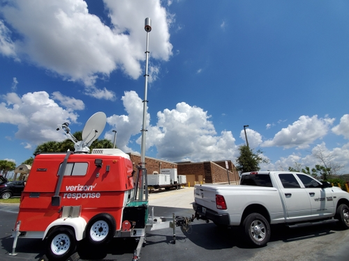 Verizon Response SPOT (satellite picocell on a trailer)