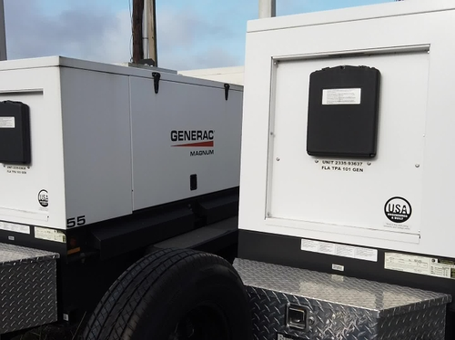 Portable Generators Ready To Move Out