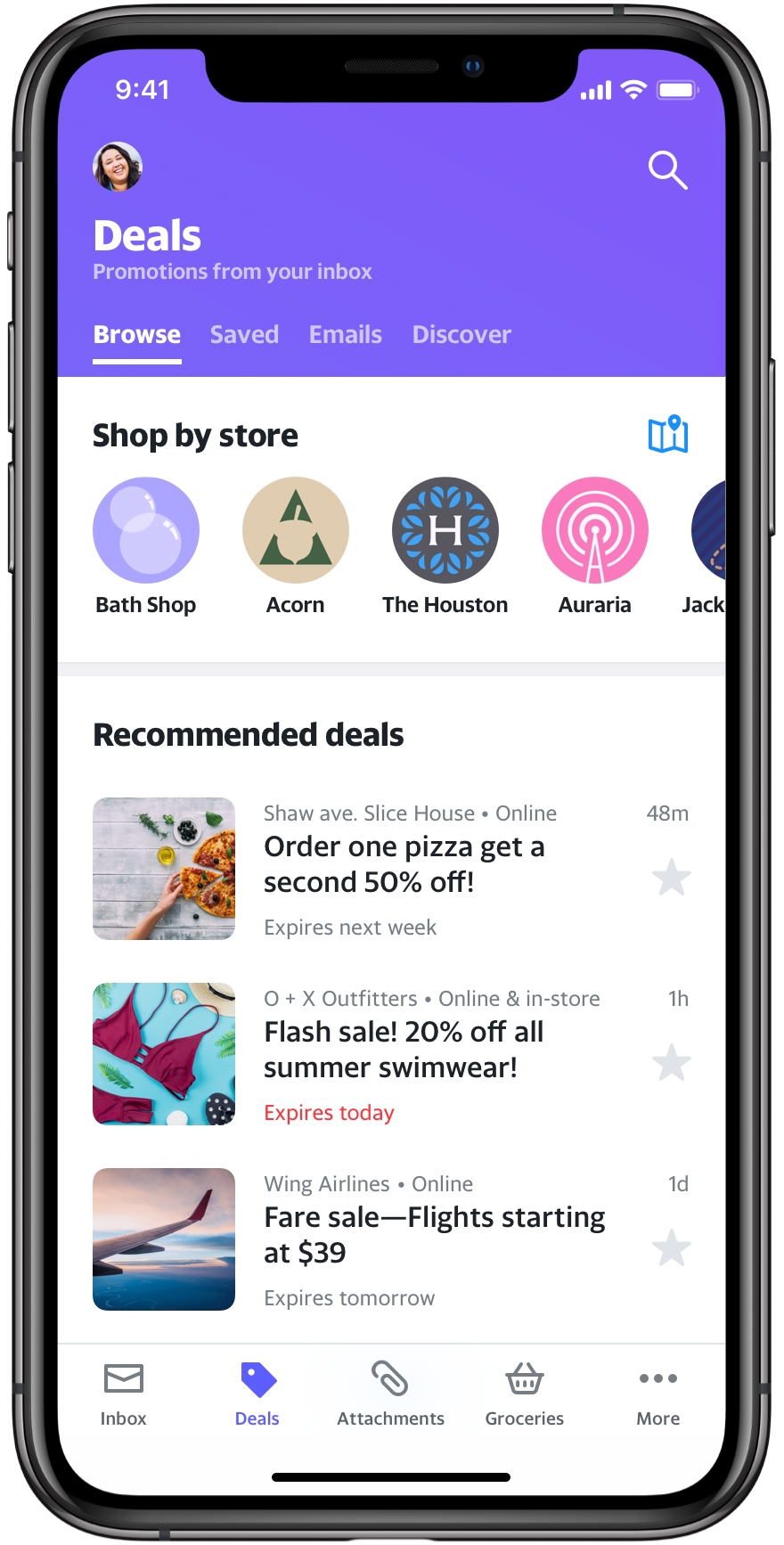 Deals View - Screenshot iOS