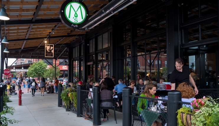 M's Pub in the Old Market Entertainment District
