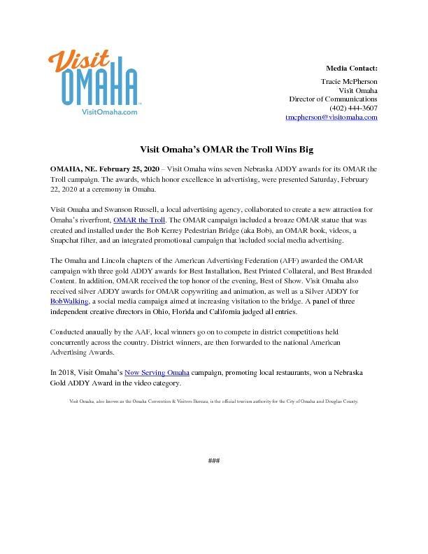 OMAR Wins Big_ADDY Awards