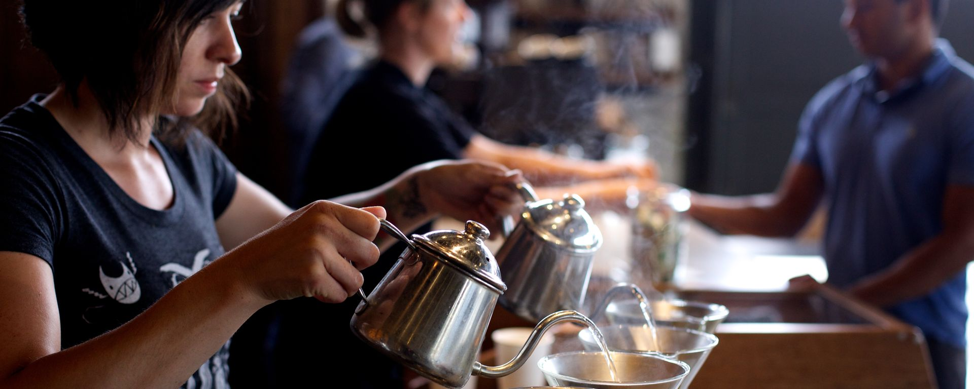 Barista at Coava Coffee