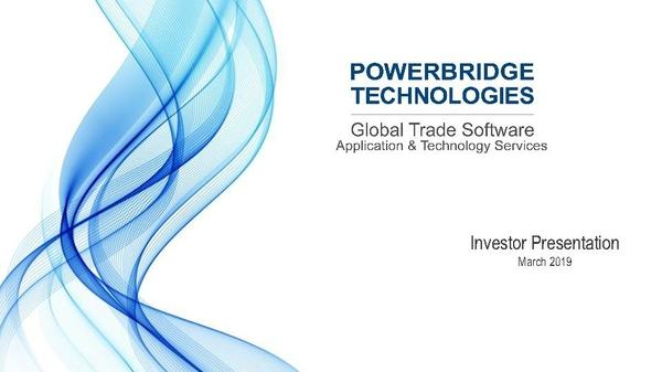 Powerbridge Technologies Deck_SEC Filed