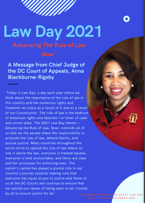 Chief Judge Blackburne-Rigsby's Law Day statement, May 2021