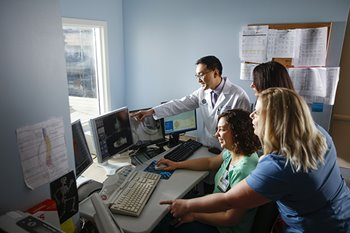 Oncologists and therapists plan treatment