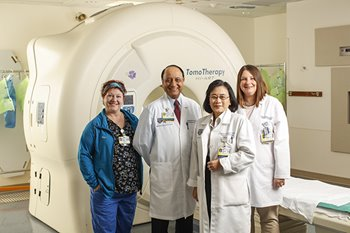 Chair of Radiation Oncology Yuhchyau Chen and her team