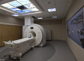 The new Outpatient Imaging Center MRI suite offers a soothing environment for patients.