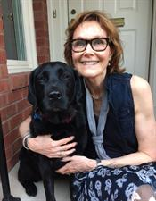 Lynne Maquat with her labrador, Lia