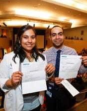 med students with match letters