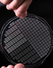 fingers holding a microbubble platform