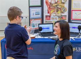 neuroscience lab holds brain day event at the Hope Hall School