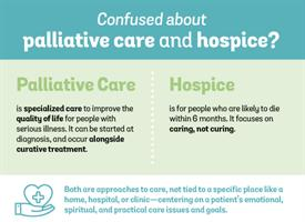 graphic of differences between palliative care and hospice