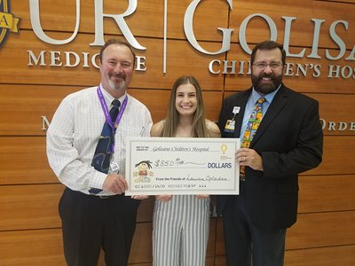 Lauren with Dr. Brophy and Dr. Scharf