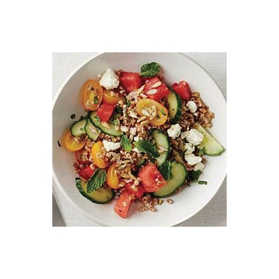 Wheat Berry Salad with Watermelon and Tomatoes