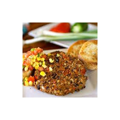 Black Bean Burgers with Corn Avocado Salsa