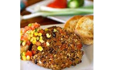 Black Bean Burgers with Corn Avocado Salsa